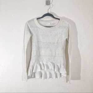 Anthropologie Off White Nuvola Sweater Size S